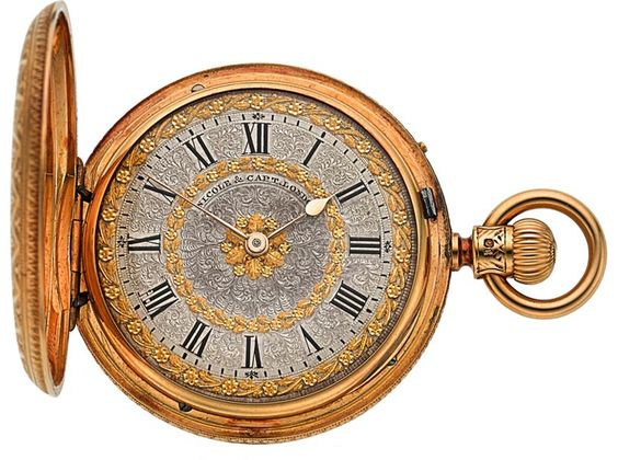 Nicole & Capt. 18k Gold Pocket Watch for the South American Market