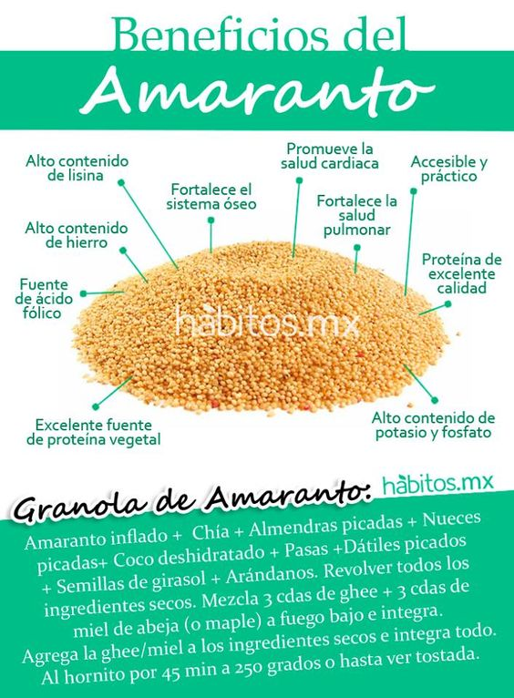 Hábitos Health Coaching | BENEFICIOS DEL AMARANTO + granola de amaranto
