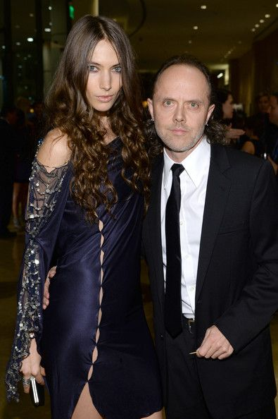 Jessica Miller and Lars Ulrich of Metallica attend the ...