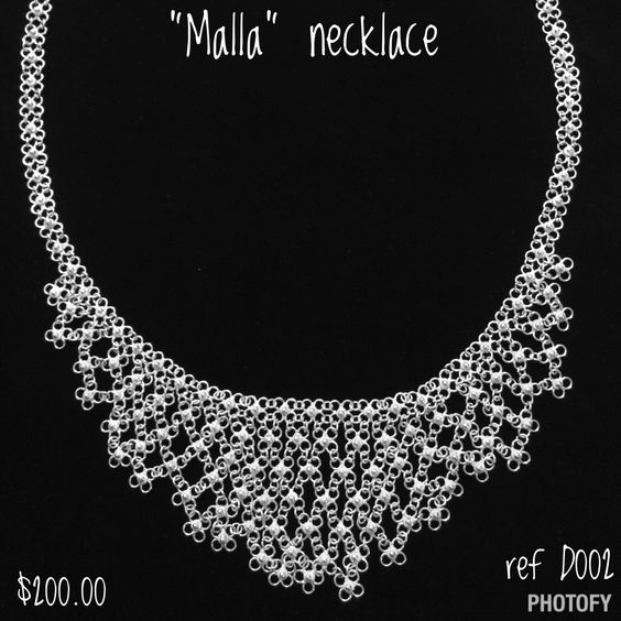 Beautiful handmade colombian filigree necklace! Pure silver! #miamiart #colombianhandmade