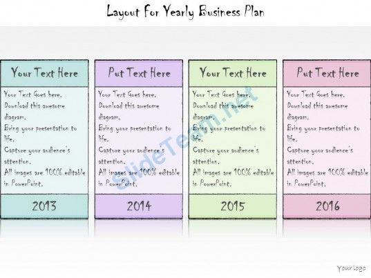 1113 Business Ppt Diagram Layout For Yearly Business Plan - powerpoint calendar template