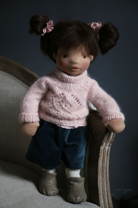 "Taja - 16"" Natural Fiber Art Doll"
