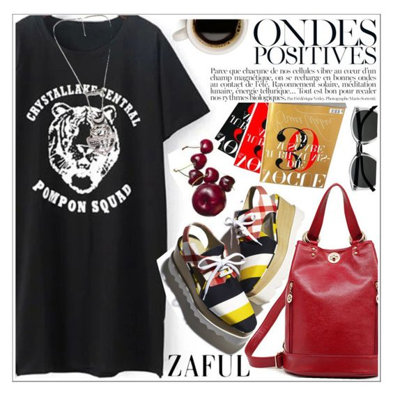 """Zaful"" by teoecar ❤ liked on Polyvore featuring Anja, Retrò and zaful"