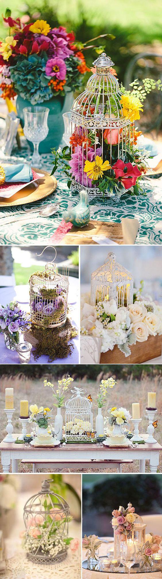 Jaulas decorativas para los centros de mesa