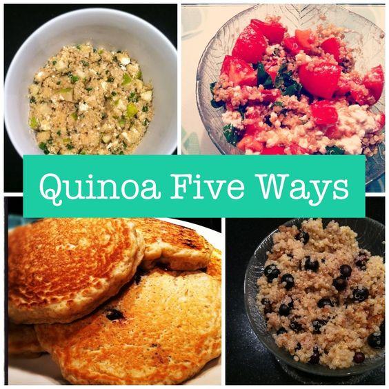 Quinoa Five Ways collage