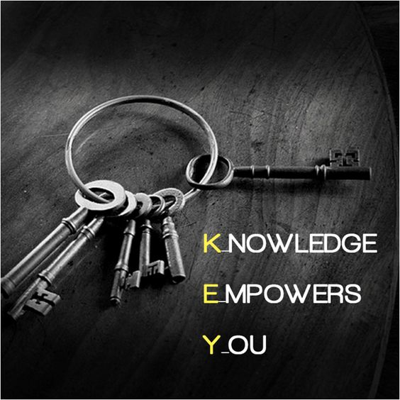 knowledge is power how to buy Watch your back, but more importantly when you get out the shower, dry your  back, it's a cold world out there the key to more success is to.
