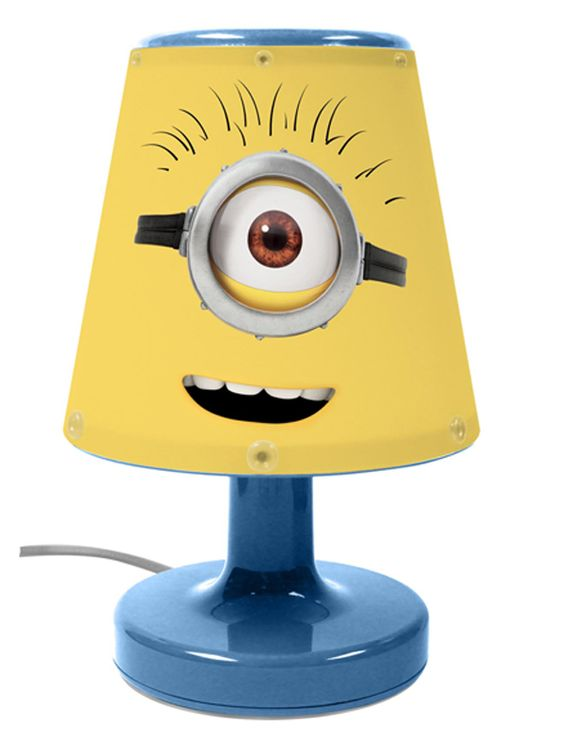 Tractor Bedside Lamp : Despicable me minions lamp lamps boy rooms and boys