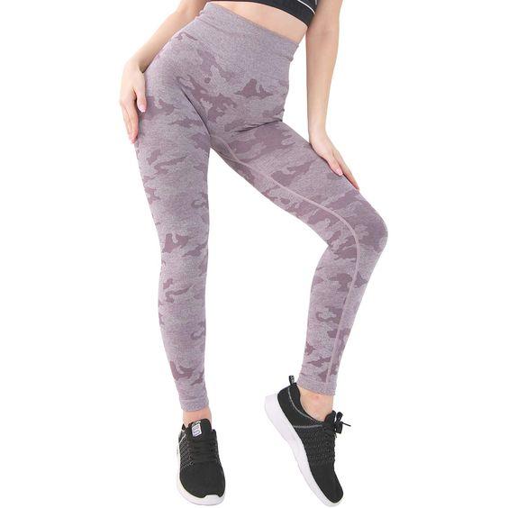 DOYOG Womens High Waist Slim Yoga Pants Fitness Tummy Control Workout Gym Pants Seamless 4 Way Stretch Yoga Leggings