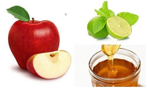 Táo, mật ong và nước cốt chanh giúp bạn có làn da mịn màng