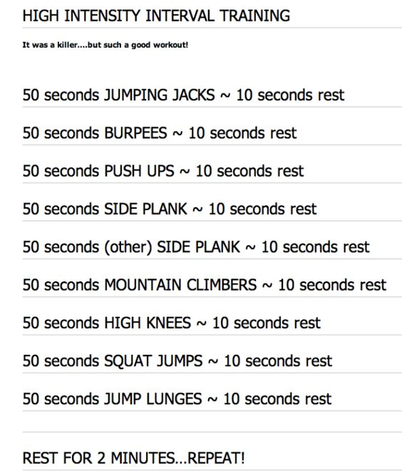 The Daily HIIT (aka Body Rock TV). Love their workouts - new one posted online daily. This one is great - tough - but great.