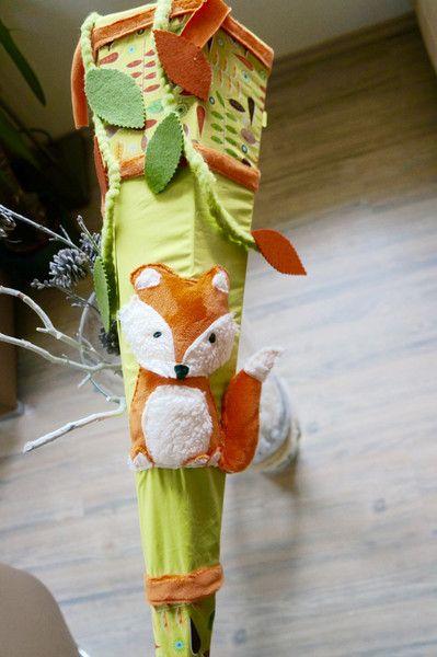 Zuckertüte+Stoff+/+Schultütenbezug+Fridolin+Fuchs+von+Zuckertütenmanufaktur+-+Anjakate+auf+DaWanda.com