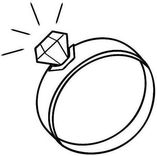 Wedding Rings Coloring Pages Printable Heart Wedding Rings
