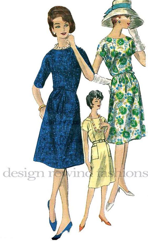 1960s Vogue 5491 Dress w/ Slightly Flared by DesignRewindFashions, $20.00