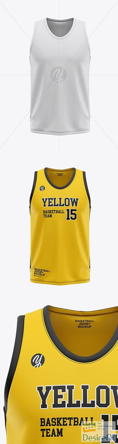 Download Download Mens U Neck Basketball Jersey Mockup Front View 36120 Desirefx Com Basketball Jersey U Neck Yellow Team