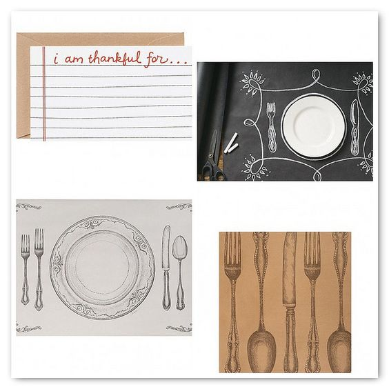 Thanksgiving Place Settings | The Paper Source