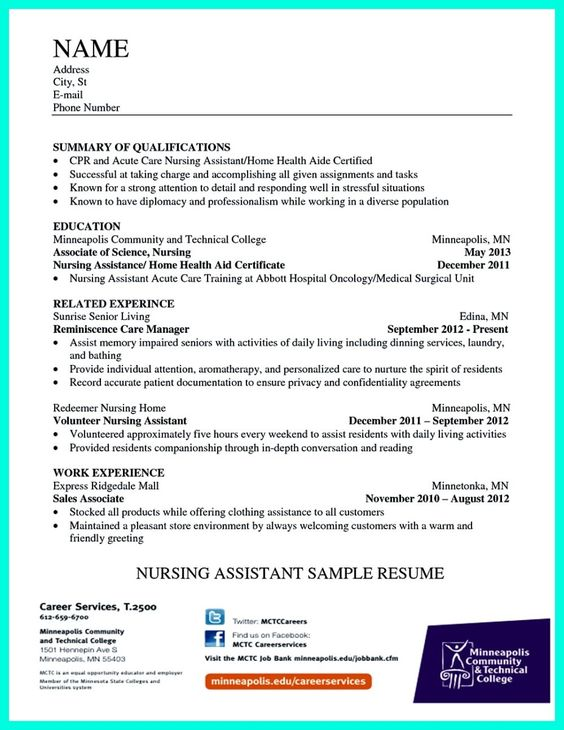 awesome impress the employer with great certified nursing assistant resume check more at http