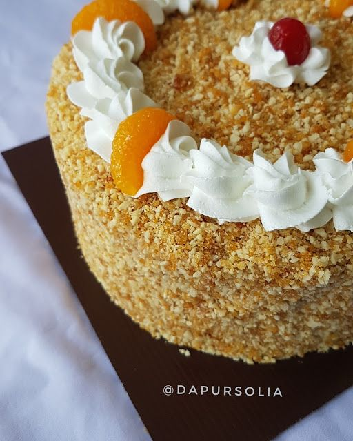 Dapur Solia Mocca Nougat Cake Alias Bolu Moka Jadul With Recipe Resep Makanan Penutup Makanan Manis Makanan