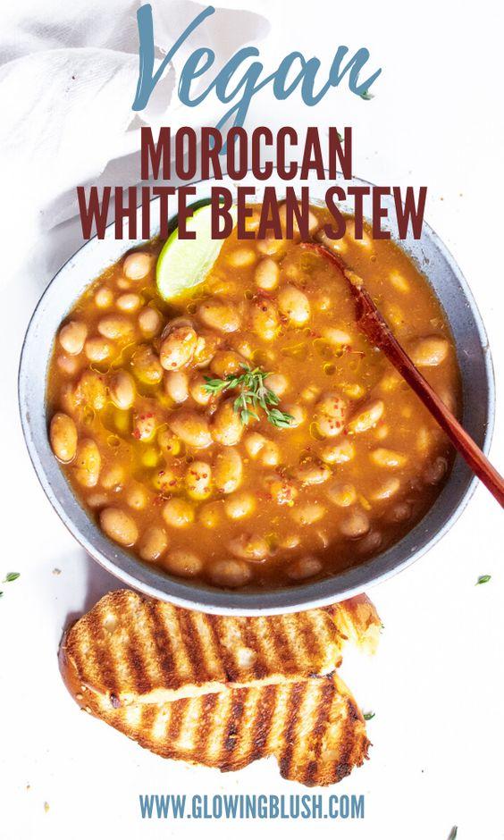 One-Pot Moroccan White Bean Stew - Loubia