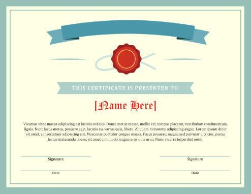 Free Certificate Template By HloomCom   Souper Bowl