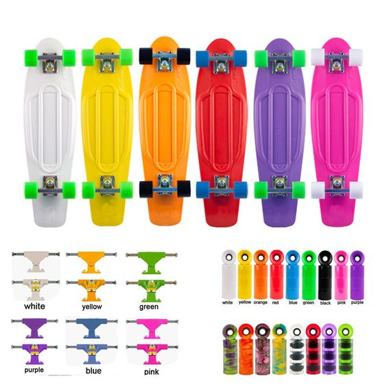 Led Light Wheels Penny Skateboard With Colored Trucks $8~$15