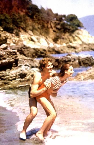 Audrey Hepburn and Albert Finney in Two for the Road.