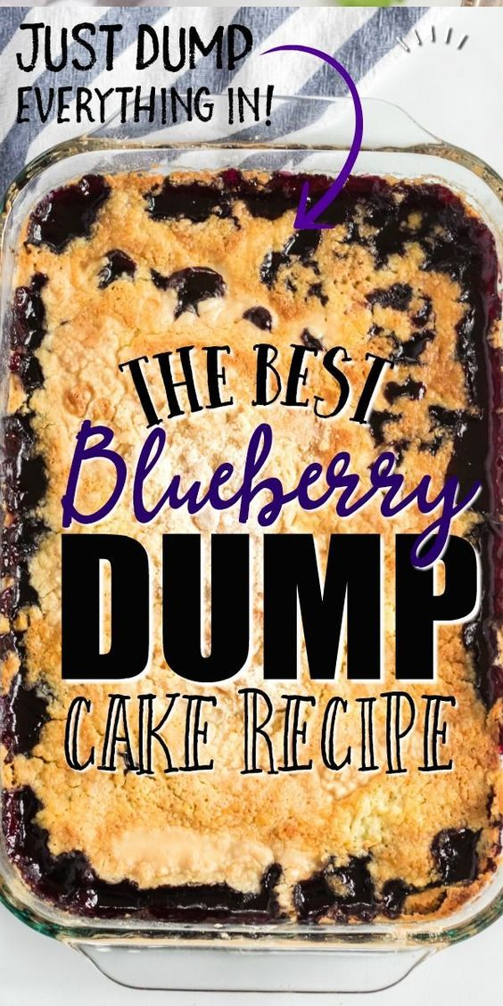 Southern Style Blueberry Dump Cake - JUST 4 INGREDIENTS!!!
