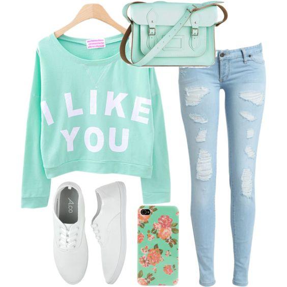 """""""I like you"""" Outfit - Teen Fashion - follow @Christina Childress Childress Childress Spencer Fashion"""