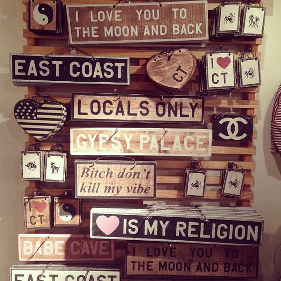 brandy melville room signs - Google Search