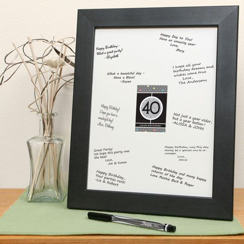 50th Birthday Signature Photo Frame: Personalized Baby Shower Print With Signature