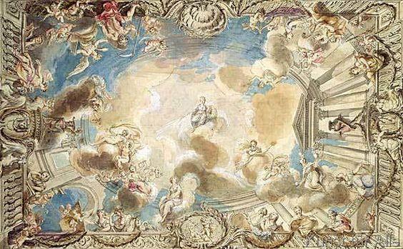 Giovanni Battista Cipriani - Design for a Ceiling Depicting Minerva Presiding Over the Arts
