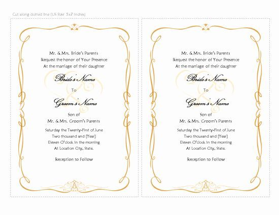 Wedding Invitation Template Word Elegant Wedding Invitation Card Template Word