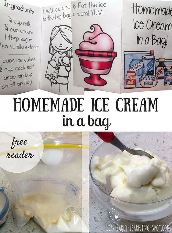 Homemade Ice Cream Early Learning And A Bag On Pinterest