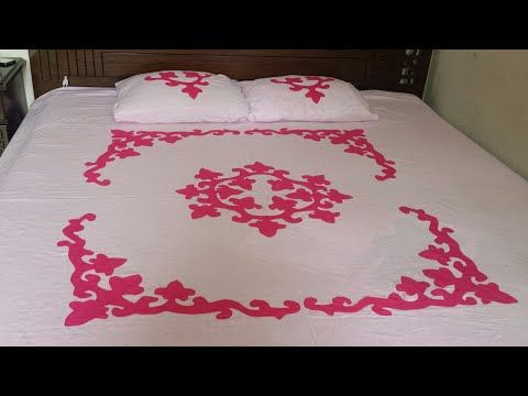 Tutorial Applique Applic Hand Made Bed Sheet And Pillow Covers