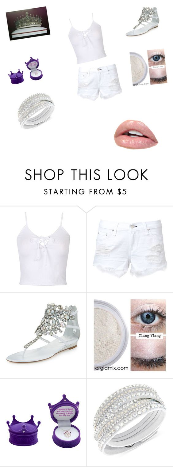 """angel queen 2"" by vyesica-yv on Polyvore featuring WithChic, rag & bone, René Caovilla, Ylang Ylang and Swarovski"