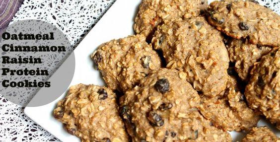 oatmeal raisin protien cookies