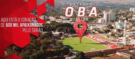 Onésio Brasileiro Alvarenga, estádio do Vila Nova - ação de marketing (Foto: Divulgação)