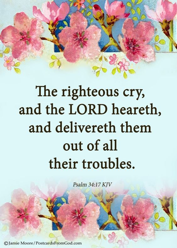Lord, thank You that we can cry out to You when we are in trouble and You hear us. Thank You for delivering us from our troubles.  https://www.facebook.com/PostcardsFromGod: