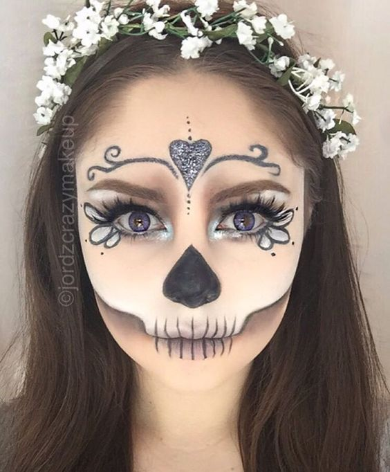9 best images about CATRINA on Pinterest Santa muerte, Halloween - face makeup ideas for halloween