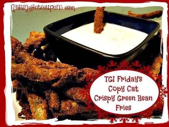 Crispy Green Bean Fries Main TGI Fridays Copy Cat Crispy Green Bean Fries with Cucumber Wasabi Dip Recipe