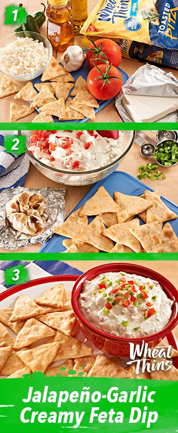 When it's hot out, the best type of heat comes in the form of this perfect blend of flavors. The savory and spicy tastes of a no-cook dip paired with WHEAT THINS Toasted Pita oven-baked crackers is just the thing to serve.