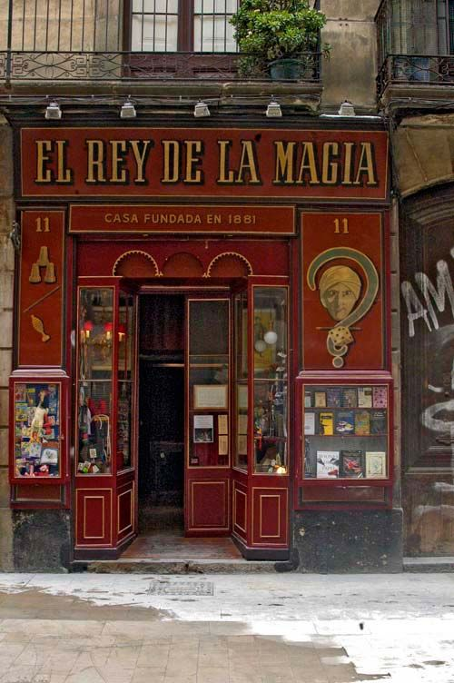 A shop in the Gothic quarter of Barcelona.