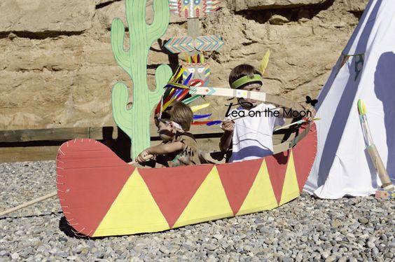 Tea On The Moon - Viajes, niños, música, scrapbook, craft: Tutorial: Complementos para un indio, el arco y la...