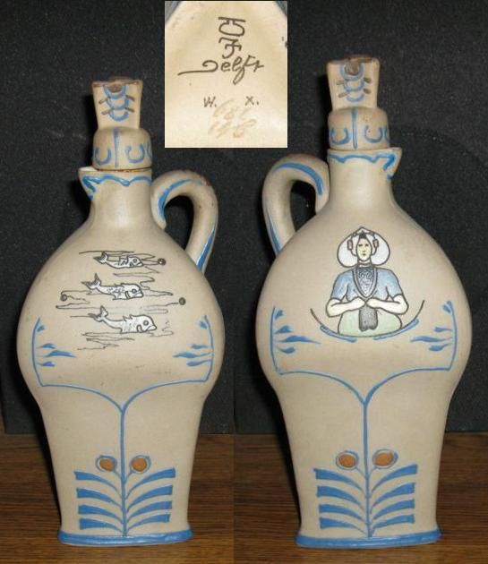 Old rare De Porceleyne Fles decanter