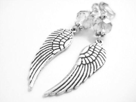 Sterling Silver Angel Wing Earrings Meval By Spotlightjewelry