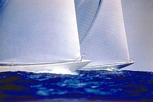 Halvorsen built Gretel vs. Weatherly 1962 America's Cup yacht races, Rhode Island: