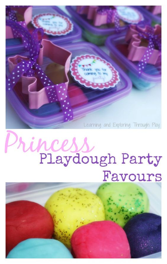 Learning and Exploring Through Play: Princess Playdough Party Favours