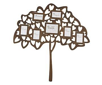 Aplique de Parede Árvore Genealógica Castanho - 51x52cm