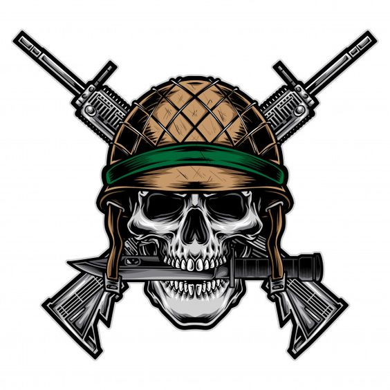 Skull army with rifle vector Premium Vec... | Premium Vector #Freepik #vector #character #cartoon #skull #drawing