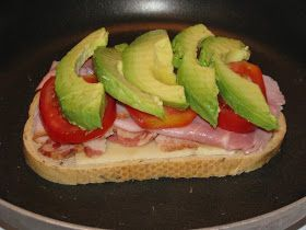 Hot Eats and Cool Reads: Grilled Cheese Sandwich with Bacon Avocado & Ham Recipe