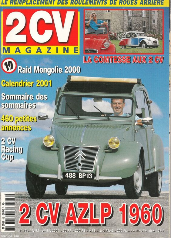 Citroën 2 CV - magazine bimestriel N°19 - mars-avril 2001